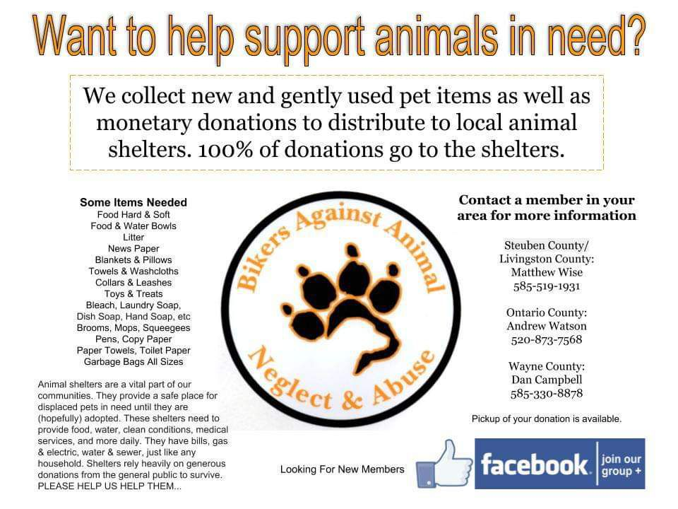 Fundraiser by Sherri Cogswell : Bikers Against Animal