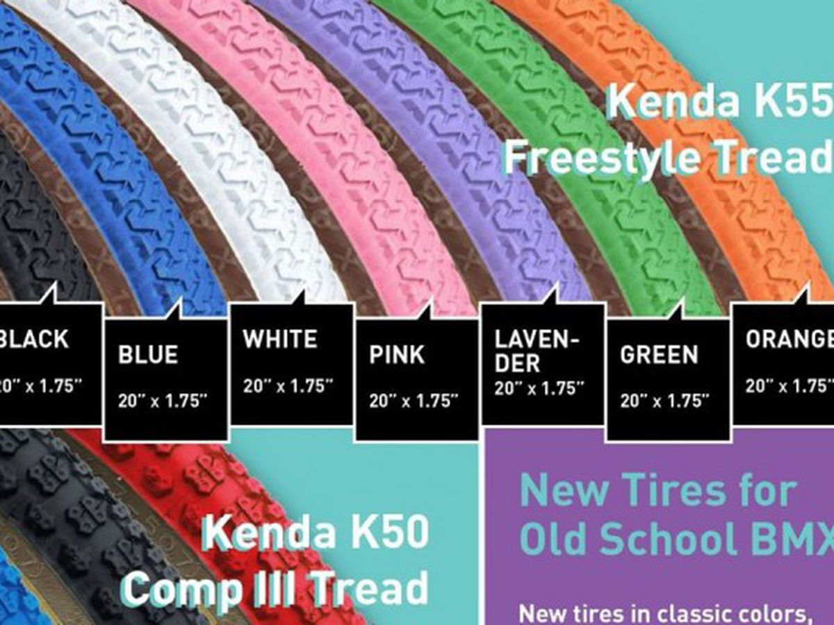 "Kenda K55 freestyle old school BMX skinwall gumwall tires PAIR 20/"" X 1.75 ORANGE"