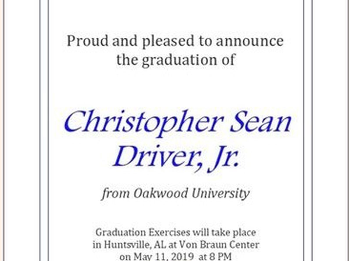 Fundraiser by Christopher S  Driver Jr  : Graduation