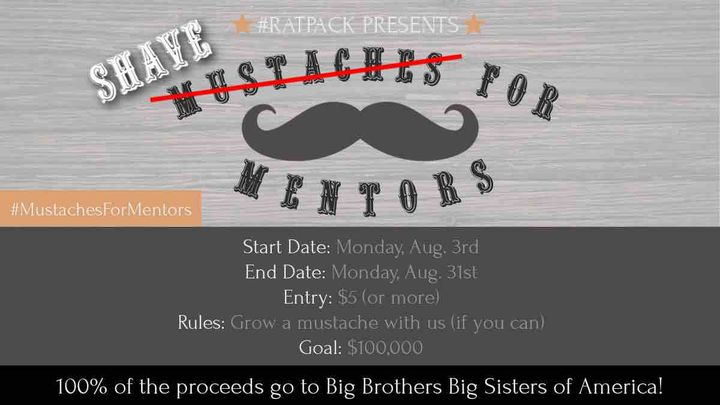 Fundraiser By Joel Freeman Shave The Mustaches For Mentors